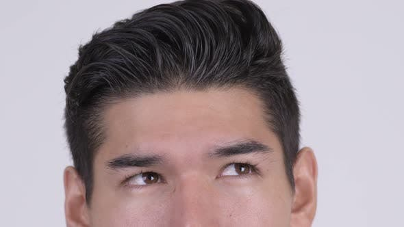 Thumbnail for Eyes of Young Multi-ethnic Man Thinking and Looking Up