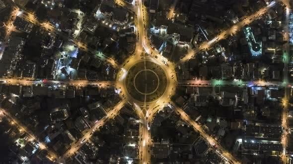 Roundabout Traffic From Above