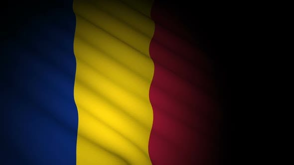 Thumbnail for Romania Flag Blowing in Wind