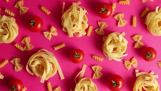 Thumbnail for Layout of Pasta and Red Tomatoes