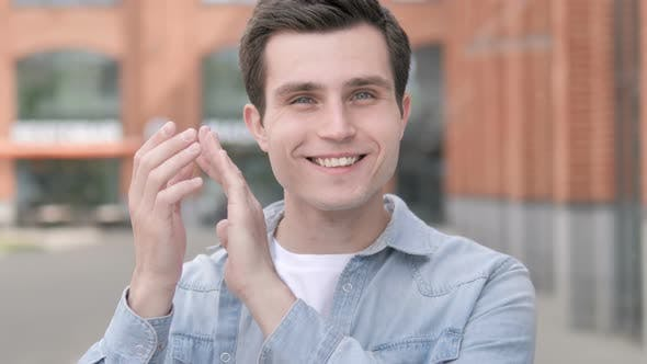 Thumbnail for Applauding Young Man Clapping
