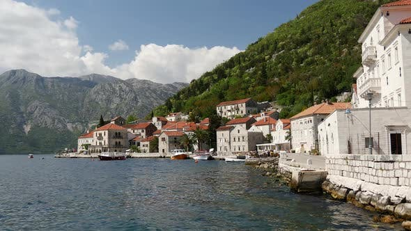 Old town Perast in Montenegro