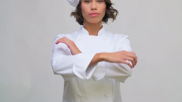 Thumbnail for Smiling Female Chef in Toque
