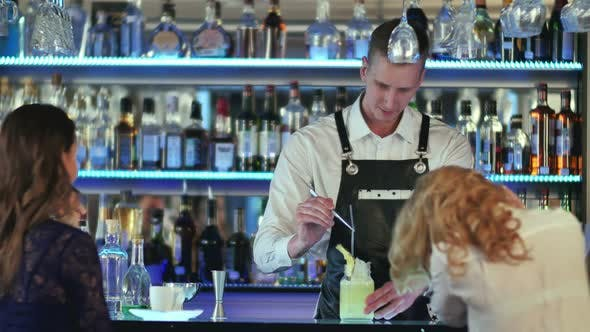 Thumbnail for Bartender Making and Decorating Cocktail