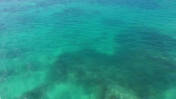 Thumbnail for Aerial of the blue ocean around the Florida Keys