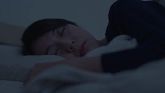 Woman sleep on bed