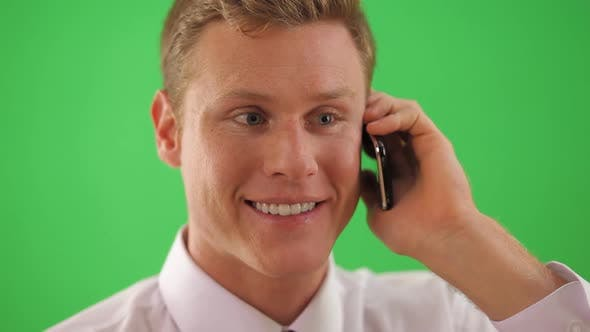 Thumbnail for Close up of businessman talking on cell phone