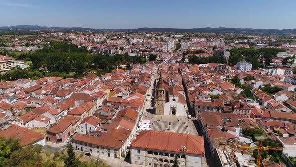 Thumbnail for Panoramic View of Tomar Historic City Center, Portugal