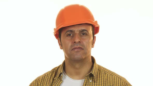 Thumbnail for Mature Male Constructionist in Hardhat Looking Upset and Disappointed