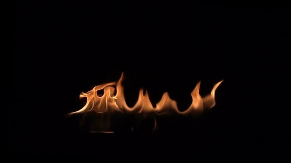 Thumbnail for Flames On Black Background