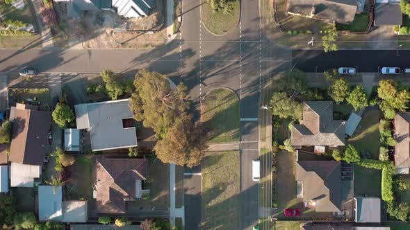 Thumbnail for Houses in Suburban Australia Aerial View of Typical Streets and Neighbourhood