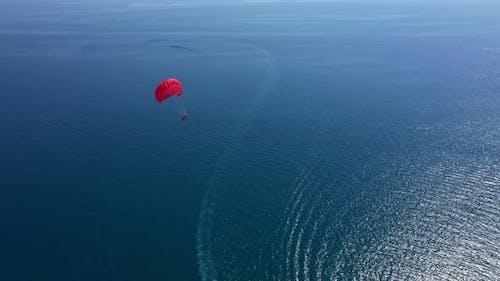 Parasailing On The Mediterranean Shore