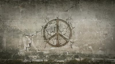 Peace Symbol in a Wall