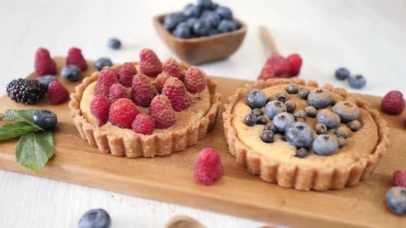 Thumbnail for Tartlets With Fresh Berries On Table.