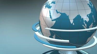 Blue Globe 3 D Loop