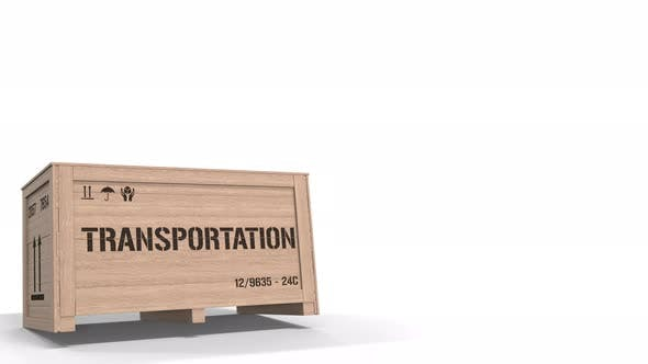 Thumbnail for Crate with TRANSPORTATION Text