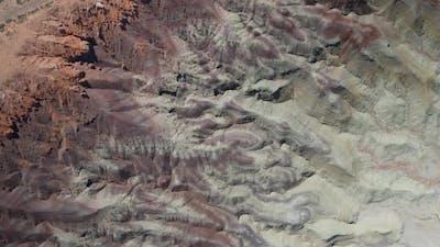 Top down shot of Little Painted Desert