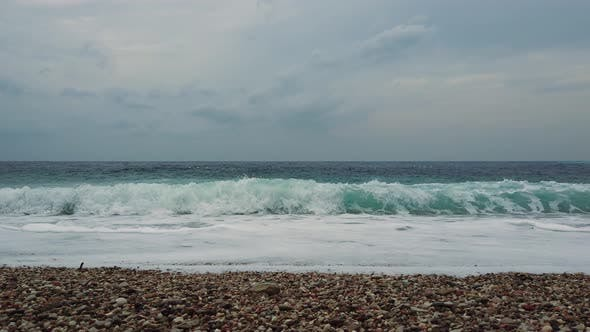 Thumbnail for Adriatic Sea Waves Before Storm, Perazica Do, Montenegro