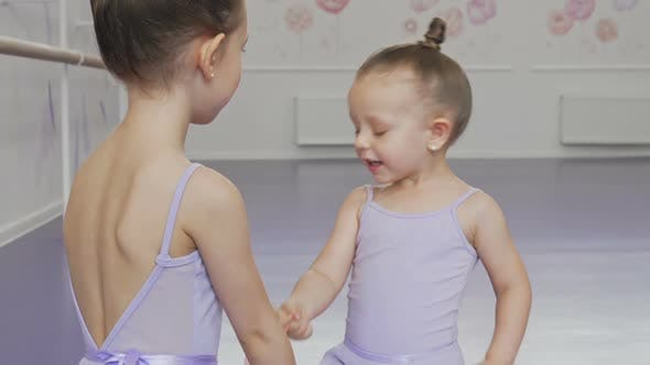 Thumbnail for Adorable Little Ballerinas Having Fun at Ballet School