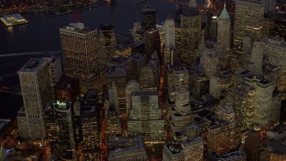 Thumbnail for Establishing Shot of High Rise Skyscrapers in City Metropolis
