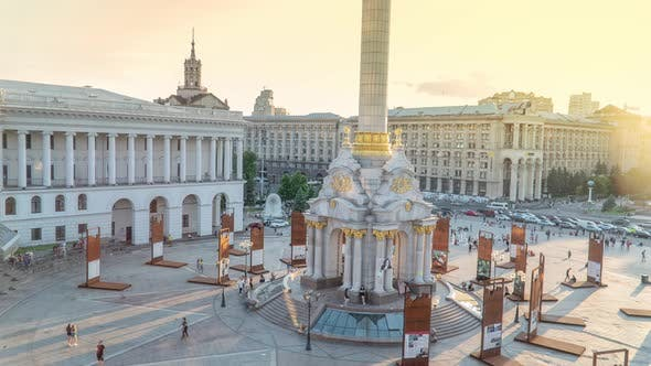 Thumbnail for Khreshchatyk Street and Independence Square in Kyiv Kiev