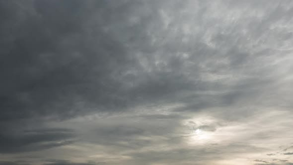 Thumbnail for Time Lapse of Majestic Cloudy Sky with Sun Over Horizon. No Birds, No Flicker.