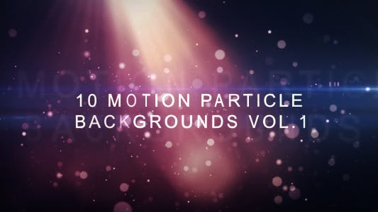 Thumbnail for Motion Particle Backgrounds Vol.1