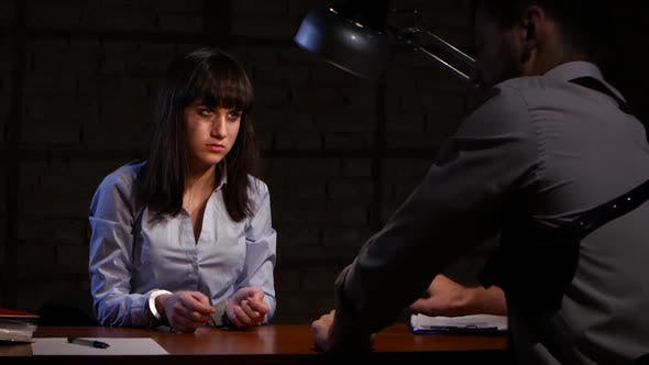 Thumbnail for Detective Man Forces the Girl a Felon To Write Confession