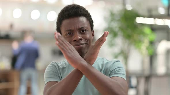 Cover Image for No, Denying Young African Man Rejecting Gesture