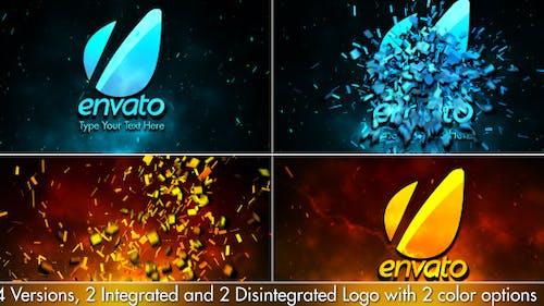 Cinematic Fire Shatter Logo