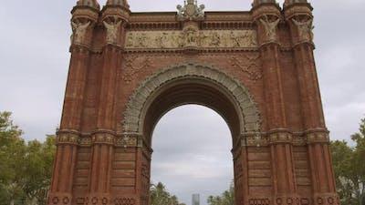 Arch of Triumph in Barcelona, Spain