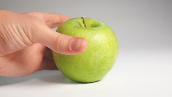 Thumbnail for Man Hand Take Green Apple