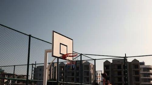 Basketball Throw to Basket