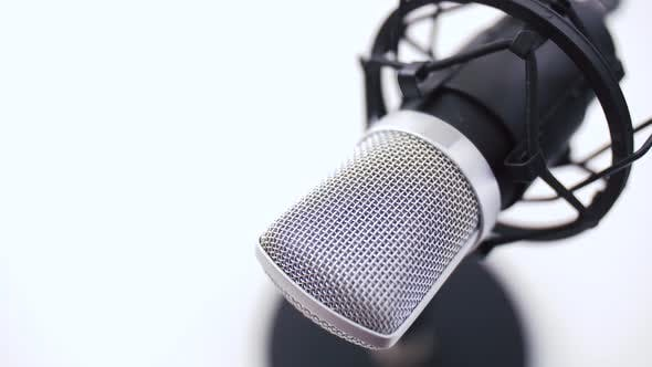 Thumbnail for Close Up of Microphone at Recording Studio