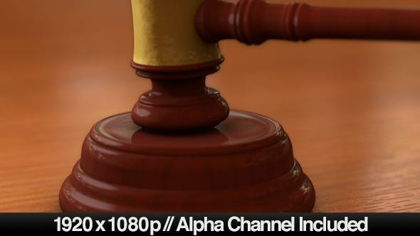 Thumbnail for Courtrooms Wooden Gavel Ruling with Alpha Channel