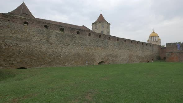 Castle walls at Fagaras fortress