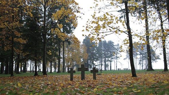 Three Tombstone Crosses