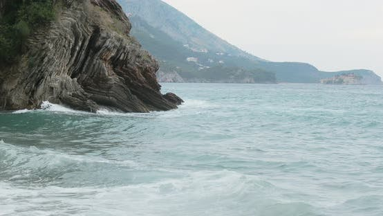 Thumbnail for Stormy Sea Near Rocky Coast