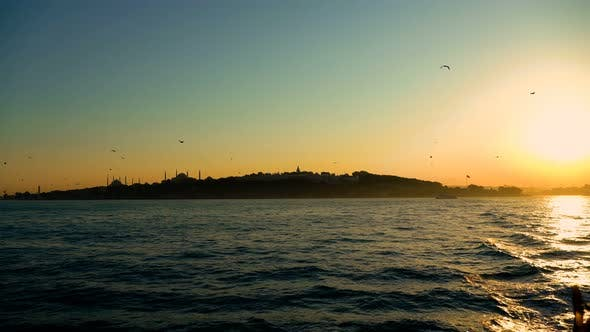 Thumbnail for Istanbul Sunset Silhouette