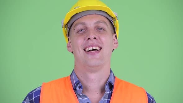 Thumbnail for Face of Happy Young Man Construction Worker Smiling