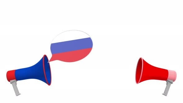 Thumbnail for Speech Bubbles with Flags of Georgia and Russia