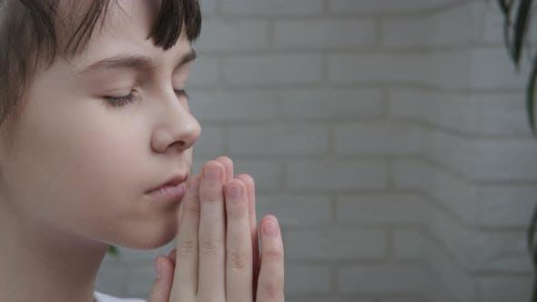 Portrait of a Girl in Namaste
