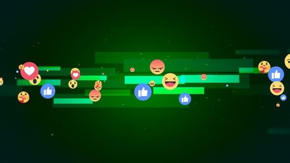 Facebook Reaction Emoji Background V2
