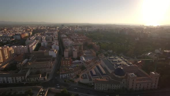 Thumbnail for Aerial View of Valencia at Sunset, Spain