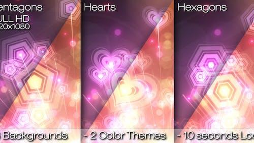 Abstract Rainbow Custom Shaped Background Loops