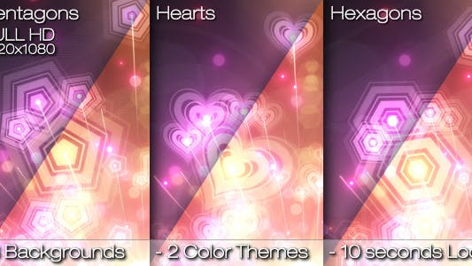 Thumbnail for Abstract Rainbow Custom Shaped Background Loops