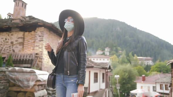 Thumbnail for Tourist Woman with Face Mask Exploring Old Town Post COVID Pandemic