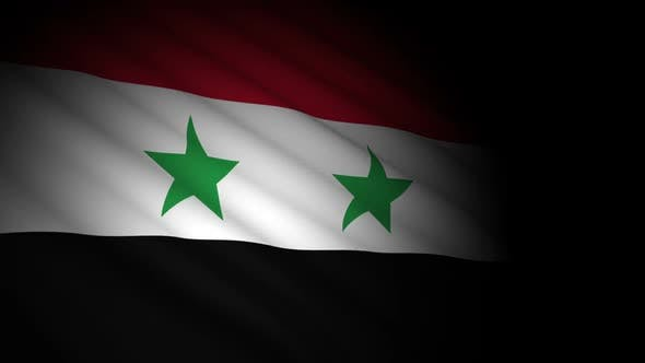 Cover Image for Syria Flag Blowing in Wind