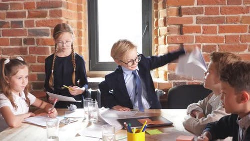 Angry Nervous Boss Throwing Documents on the Table