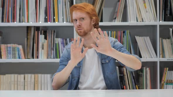 Thumbnail for Rejecting, Disliking Gesture by Beard Man